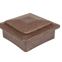 best deck composite wood chocolate brown ballustrade post cap