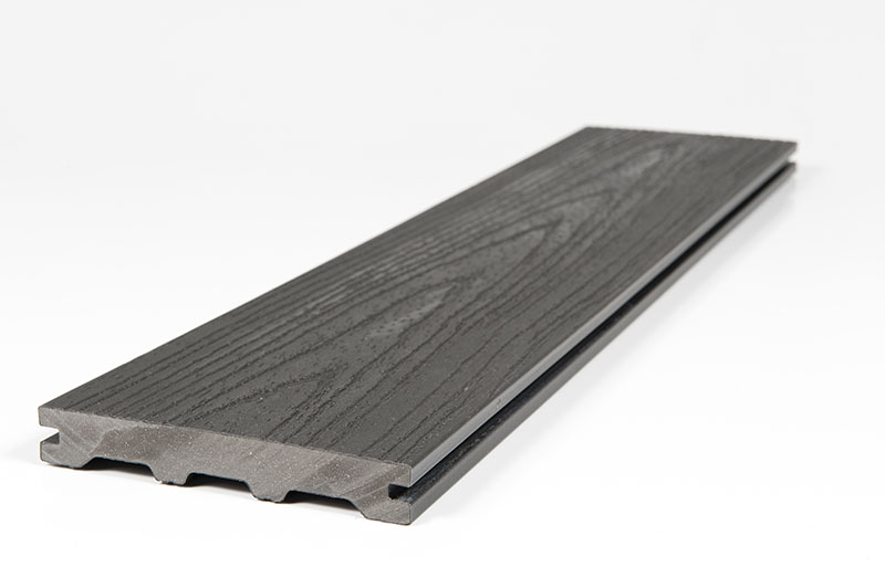 Charcoal Solid Wood Grain Deck Plank