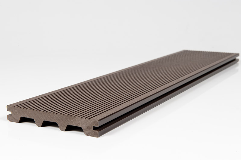 Chocolate Brown Composite Grooved Decking Plank