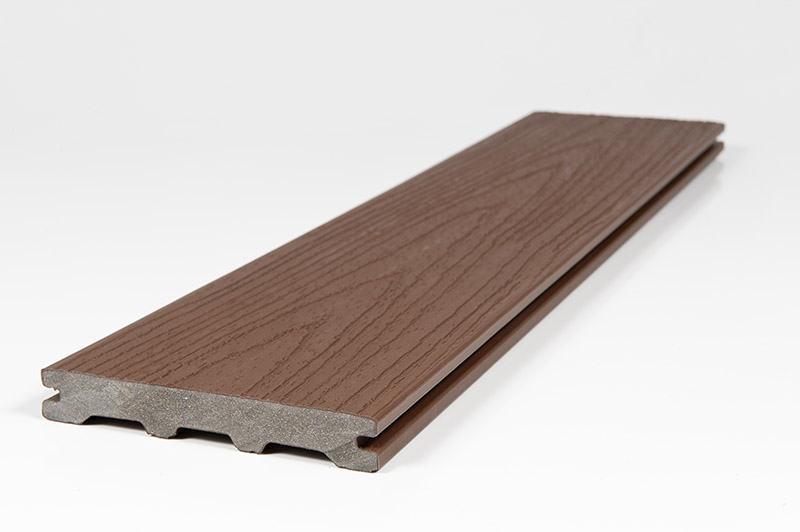 Chocolate Brown Solid Wood Grain Deck Plank