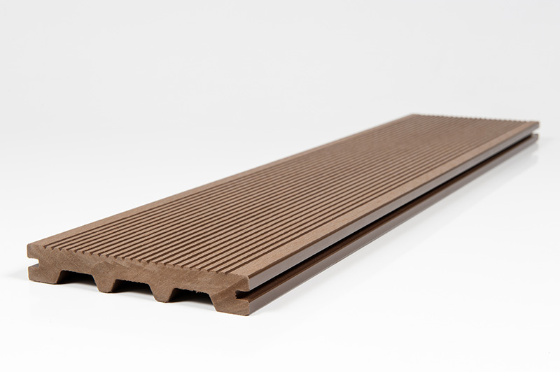 Coffee Brown Composite Grooved Decking Plank