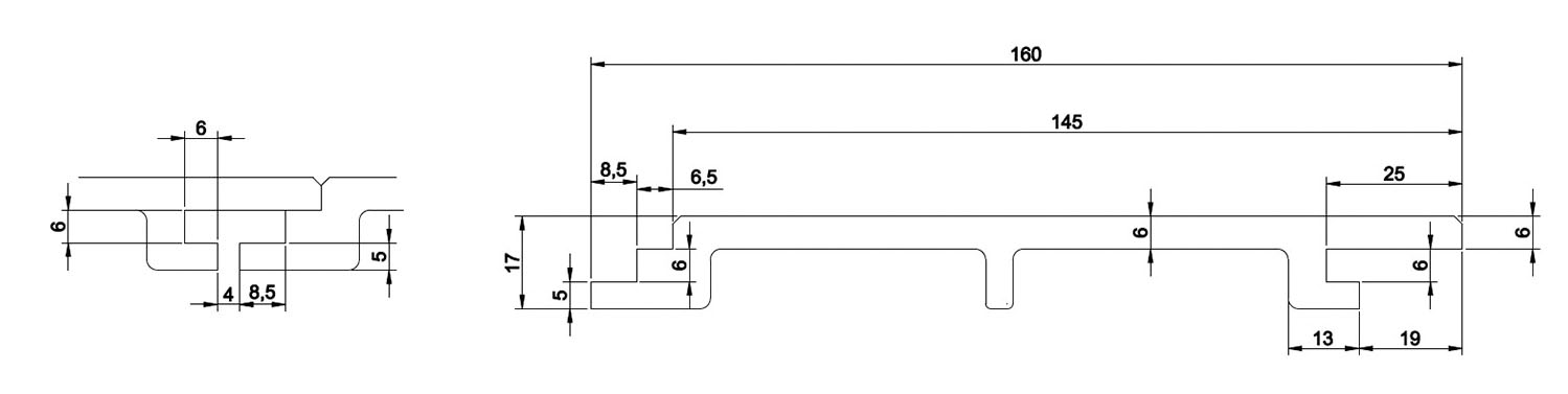 Wall Cladding Technical Drawing